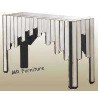 Buy cheap Comb Design Mirrored Console Table For Living Room Glass Mirror Finish from wholesalers