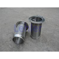 Wholesale 1.0*2.0mm Profile Wire Screen , Long Slit Wedge Wire Strainer Non - Clogging from china suppliers