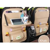 Buy cheap 63*45 Cm Front Car Seat Organiser , Custom Leather Car Seat Back Storage Bag from wholesalers