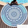 Buy cheap Multi - Purpose Custom Printed Beach Towels , Round Beach Blanket With Tassels from wholesalers