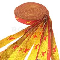 Wholesale Wholesale Striped Colors Jacquard Woven Polyester Ribbon,Colorful Single Face or Double Face Woven Edge Polyester Ribbon from china suppliers
