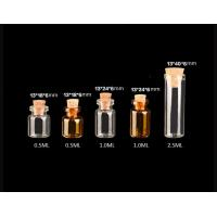 Buy cheap 13mm  Small Glass Vials With Cork Lids, Glass Bottles for Decoration, Arts & Crafts, Projects, Party Favors from wholesalers