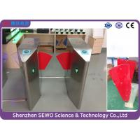 Glass Swing Automatic SEWO Flap Barrier Gate , IP54 speedgate systems Manufactures