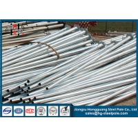 China Outdoor galvanized Structural 16 Meter Steel Tubular Pole on sale