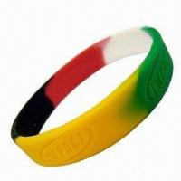 Wholesale Bracelet/Wristband with 12mm Width and 2mm Thickness, Made of Silicone Material from china suppliers