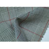 Buy cheap 100% Polyester Cotton Yarn Dyed Fabric / Grey Striped Fabric Eco - Friendly from wholesalers
