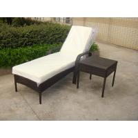 Outdoor Pool side Sun Lounge Daybed Set Poly Rattan Furniture Cushion Cover