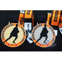 Wholesale 10k Custom Sports Medals With Soft Enamel Sublimated Ribbon For Canada Hockey Baseball Racking from china suppliers