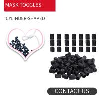 Buy cheap Face Masks Round Flat Shape & & Black Silicone Spiral 6mm Elastic Cord Stopper from wholesalers