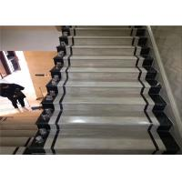 Buy cheap Classic Cut Natural Building Stone White Black Marble Stone Staircase Riser from wholesalers