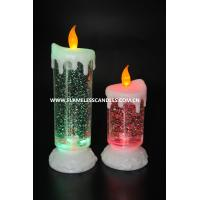 Buy cheap Battery Operated Swirling Glitter Electric LED Christmas Candles for Festival Decoration from wholesalers