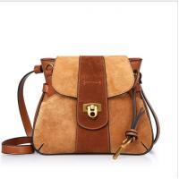 Buy cheap Nubuck Leather Bags Saddle Bag with Lock Closure Patchwork Shoulder bag from wholesalers