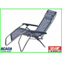 Buy cheap Promotional Carton Plastic Folding Lounge Chair Luxury Fabric Arm from wholesalers