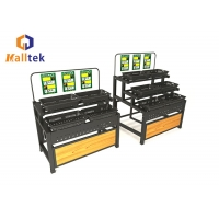 Buy cheap Fruit And Vegetable Display Stand Rack Hypermarket Retail Shop Fittings from wholesalers