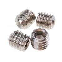 Buy cheap M5 x 10mm Stainless Steel Grub Screws Hexagonal Socket Cup Point DIN 916 from wholesalers