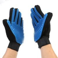 Buy cheap Flexible Five Finger Pet Comb Glove Gentle Dog Brush Glove For Long Short Hair from wholesalers