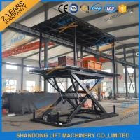 Buy cheap 6T 3M Hydraulic Portable Car Lift Double Deck Car Parking System With CE from wholesalers