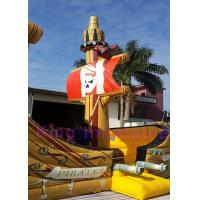 Buy cheap Outdoor CE Brown Inflatable Pirate Boat Dry Slide Waterproof Plato PVC With Cartoon from wholesalers