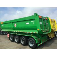Buy cheap Tractor Pull Behind Dump Trailer Rear Steel Hydraulic Lifting Four Axles from wholesalers