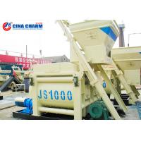 Buy cheap 1 Cubic Meters Concrete Mixture Machine With Lift , Horizontal Concrete Mixer With Motor from wholesalers