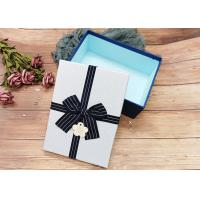 Buy cheap Customized Rectangle Cardboard Jewellery Boxes With Ribbon Bowknot , Rectangle Shape from wholesalers
