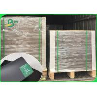 Buy cheap 1mm Thick Smooth Face Laminated Black Card Board / Book Binding Board For Envelopes 300GSM 350GSM product