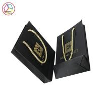 Buy cheap Eco Friendly Black Paper Shopping Bags Recyclable Feature Eco - Friendly from wholesalers