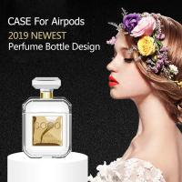 Buy cheap Custom LOGO Luxury Crystal Perfume Scent Bottle Protective Soft TPU Case Cover for Airpod 2 with Anti-Lost Carabiner Key from wholesalers