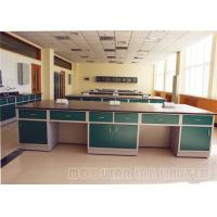 China Physical Pedestal Laboratory Work Benches Self Edged Laminate Work Surfaces on sale