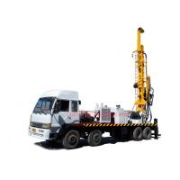 Buy cheap Truck Mounted Top Head Water Well Drilling Rig 8 X 4 Heavy Duty By Mud / Air Compressor Drilling from wholesalers