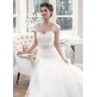 China 2014 Latest Lace/Tulle Train Hotel Bridal Wedding Dress with White, Ivory Manufactures