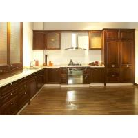 Buy cheap Dark brown kitchen furniture double sided diy kitchen cabinets design from wholesalers