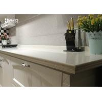 Wholesale Man Made White Color Quartz Stone Countertops With Sparkle SGS ISO9001 Approved from china suppliers
