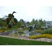 Wholesale Fantastic Artificial Animal Sculpture Crane Bird Topiary Plastic Plants Sculpture for Park from china suppliers