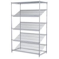Buy cheap Goods Display Slanted Wire Shelving Units , 5 Tier Chrome Plated Steel Rack from wholesalers