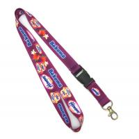 Buy cheap Custom Made ID Neck Lanyard With Plastic Buckle For Sport Meeting from wholesalers