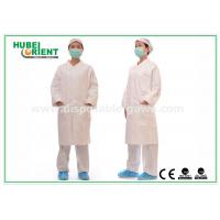 White tyvek disposable lab coats / protective disposable chemical suits Breathable
