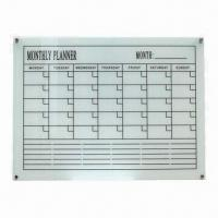 Wholesale Monthly Planner Memo Board with Magnetic Tempered Glass, OEM Orders are Welcome from china suppliers