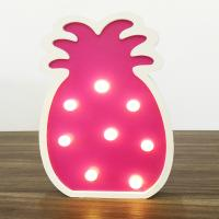 Buy cheap party decoration MDF gift toy pineapple battery night light table lamp from wholesalers