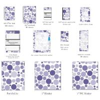 Buy cheap Mixed Navy Dots polypropylene Ring Binder , organize documents hardback vinyl binder from wholesalers