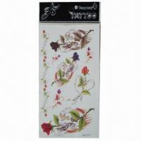Buy cheap Removable Body Tattoo Stickers, Safe and Nontoxic, Easy-to-apply and -remove from wholesalers