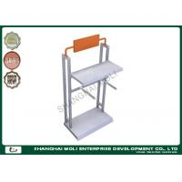 China Commercial Two arms metal garment racks for shop display , retail store clothing racks on sale