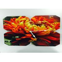 Buy cheap Contemporary Flower Shape Picture Frame Clocks Decals For Bedroom Decoration from wholesalers