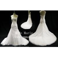 Eiffel Sexy backless V-neckline applique lace chepel train wedding dress BYB-14599 Manufactures