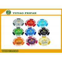 Buy cheap Personalized 13.5 G Monte Carlo Poker Chips Casino Poker Chip Clay Material from wholesalers