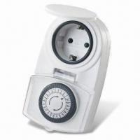 Buy cheap 24 Hours Mini Programmable Mechanical Timer for Outdoor Use, 220 to 240V AC Voltage from wholesalers
