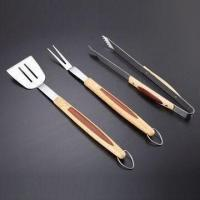 Buy cheap Wood Handle BBQ Tool Set, Suitable for Homes, Outdoor Uses, Promotions and Gift Purposes from wholesalers