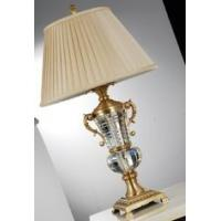 Buy cheap Home E26 E27 B22 Luxury Table Lamps Brass + Fabric Shade Copper Polishing from wholesalers