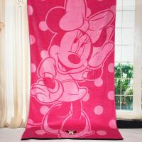 Wholesale Plain Woven Jacquard Beach Towel Minnie Mickey Mouse Reactive Printed from china suppliers