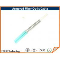 Buy cheap Indoor Outdoor Fiber Optic Armored Cable Network With Flexible Metal Tube from wholesalers